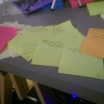 Some sample sticky notes. You can see Orange is my 'exercise' color. I should really be doing more orange tasks.